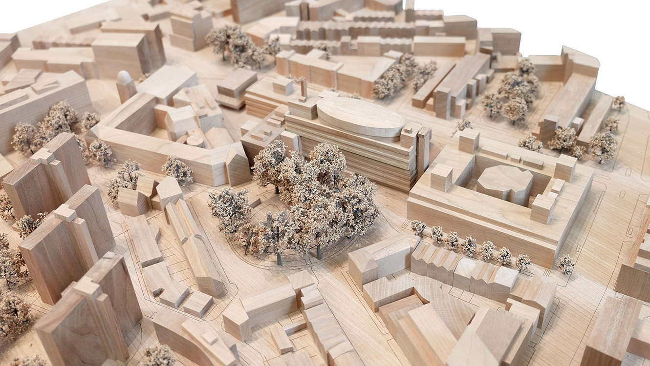 Coffey-Architects_City-University-Library-Extension-Plan_Aerial-Model